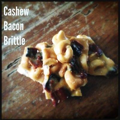 Cashew Bacon Brittle