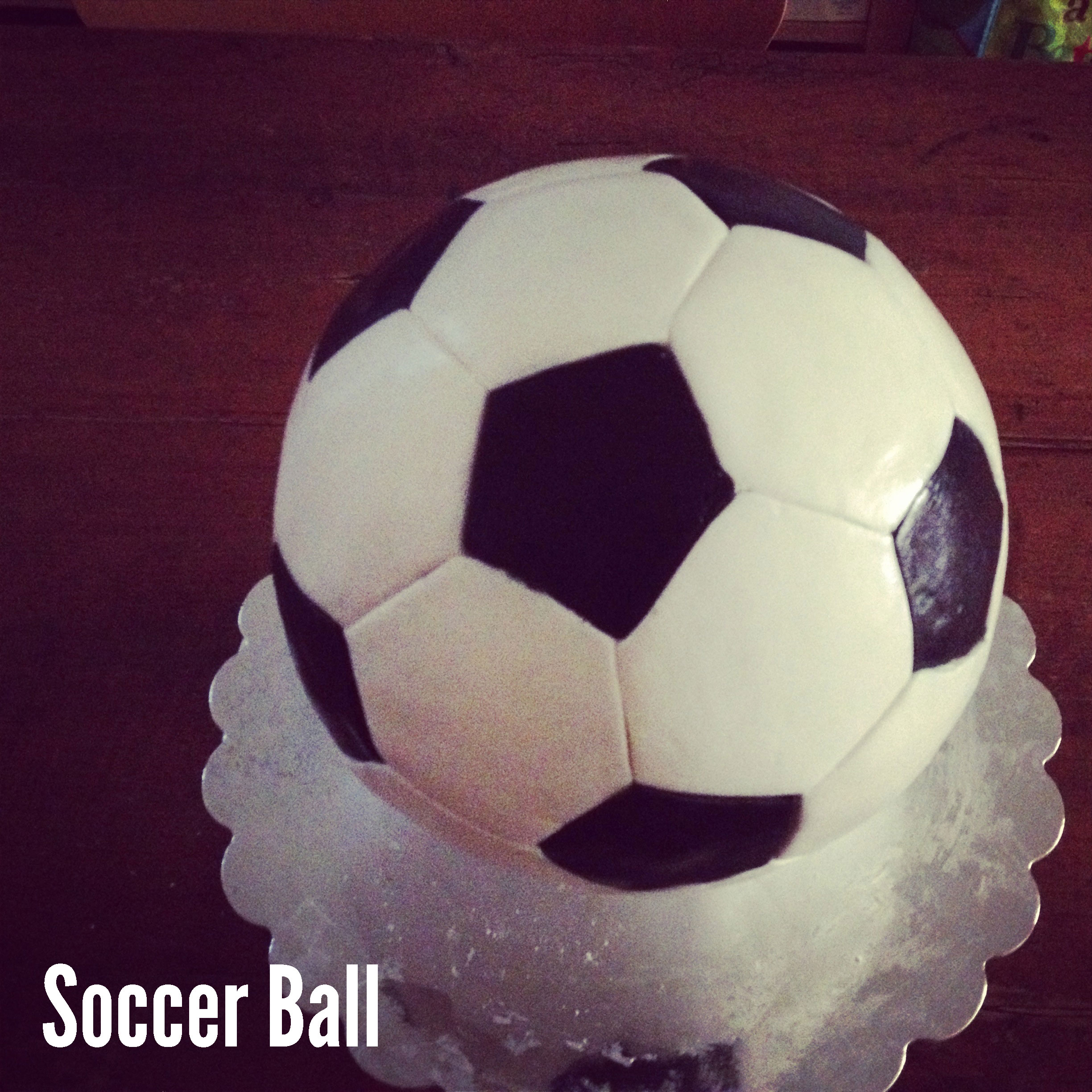 Soccer Ball Cake Neurotic Baker
