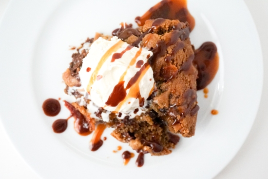 Bourbon Bacon Skillet Cookie | neurotic baker