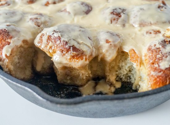 Cinnamon Chop Bread with Irish Cream Glaze
