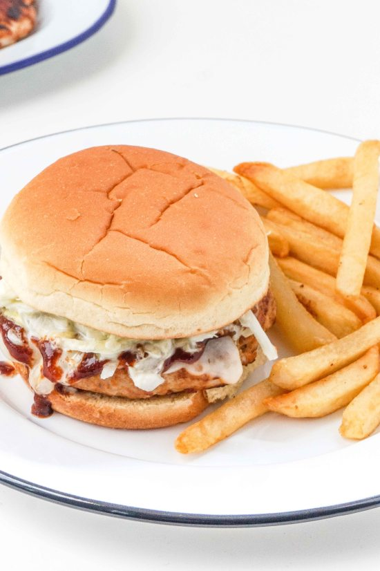 Barbecue Turkey Burgers with Cole Slaw