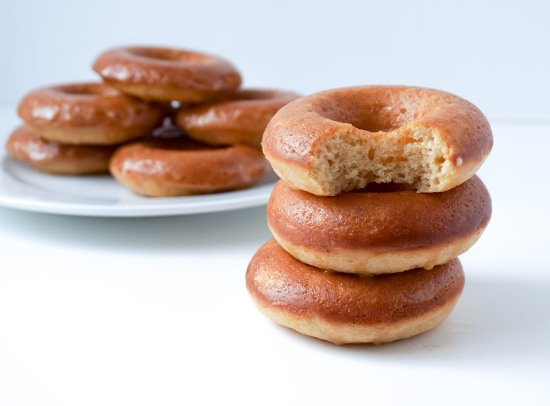 Apple Cider Donuts with Caramel Apple Glaze