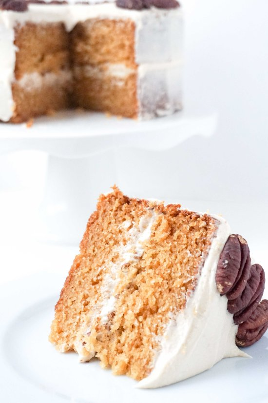 Sweet Potato Cake with Brown Sugar Frosting