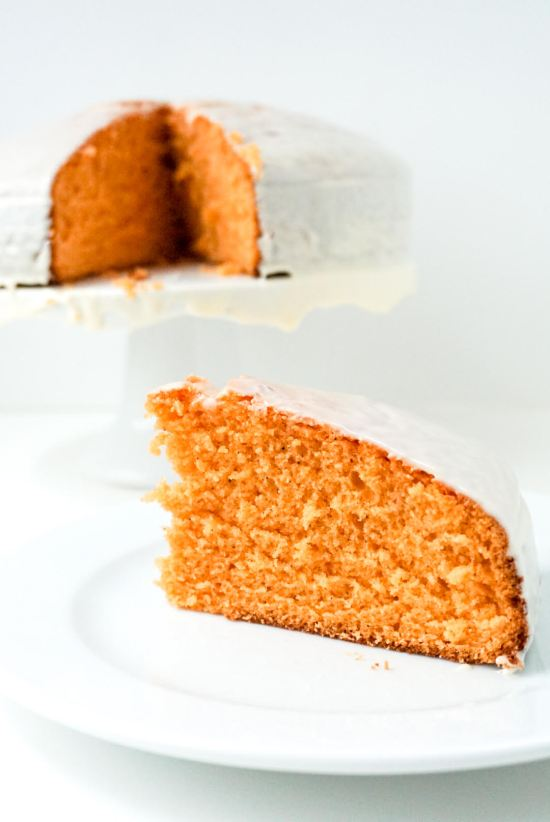 Thai Tea Cake with Condensed Milk Glaze