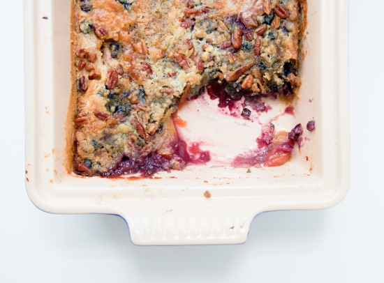 Peach and Blueberry Dump Cake
