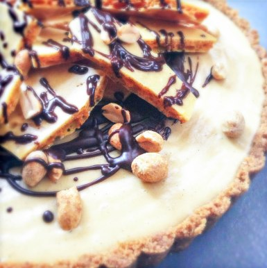 Peanut Butter Honeycomb Pie