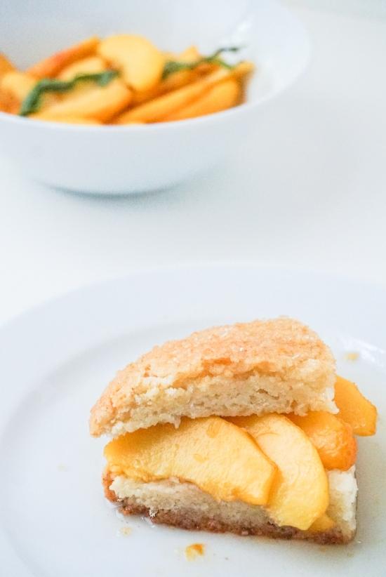 Peach Tarragon Shortcake | neurotic baker