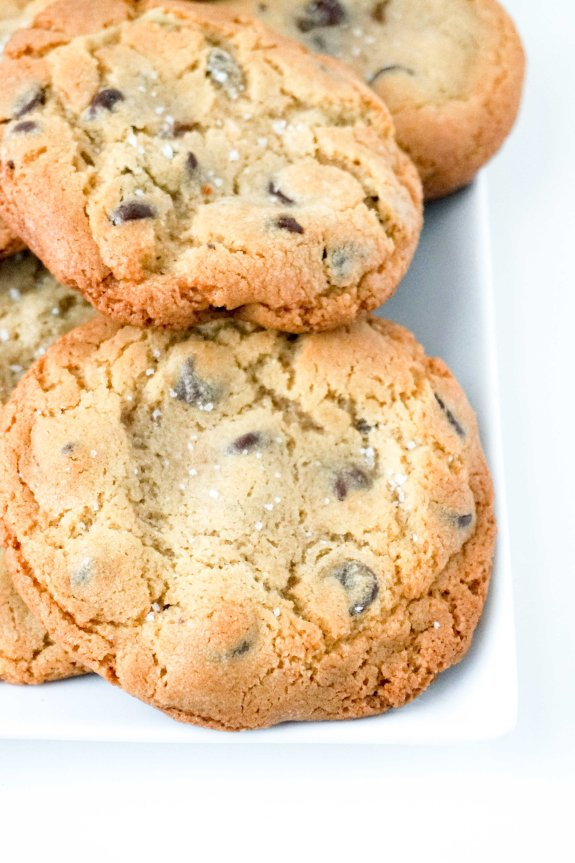 Caramel Stuffed Chocolate Chip Cookie