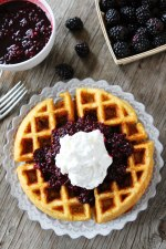 Cornmeal-Waffles-with-Blackberry-Compote-4