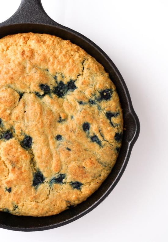 Blueberry Skillet Cornbread