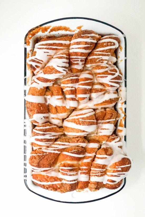 Ginger Pull-Apart Bread with Lemon Glaze