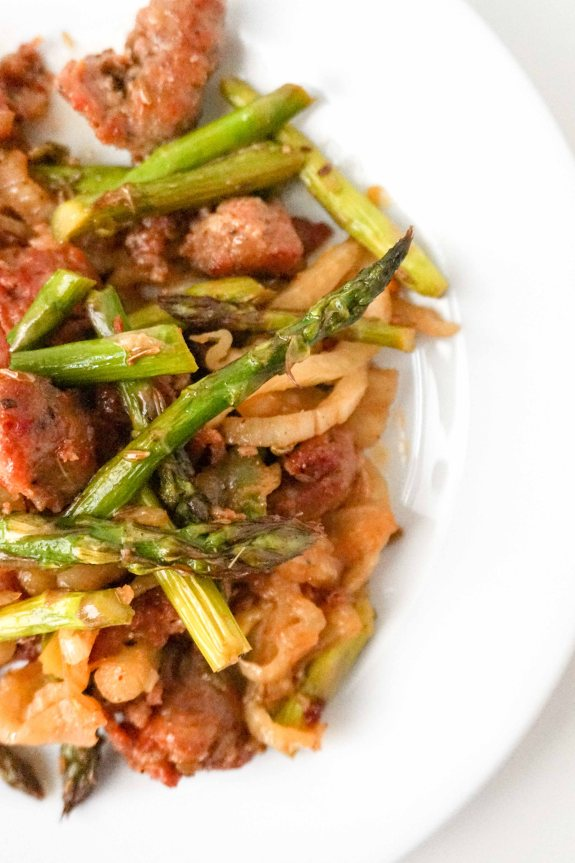 Sausage Fennel and Asparagus Medley