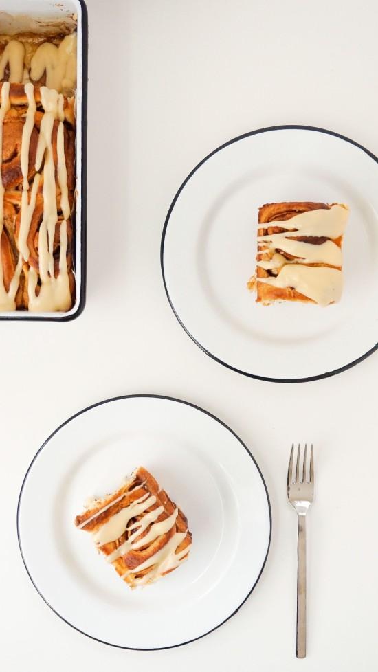 Apple Cinnamon Rolls with Caramel Cream Cheese Icing