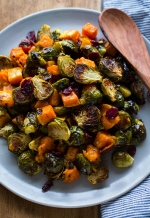 roasted-brussels-sprouts-and-squash-with-dried-cranberries-and-dijon-vinaigrette-5