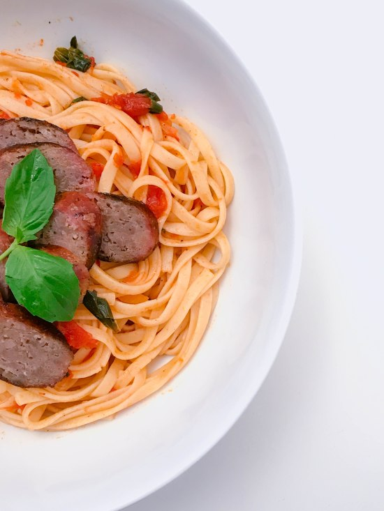 Linguini with Italian Sausage
