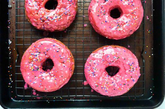 Bing Cherry Doughnuts