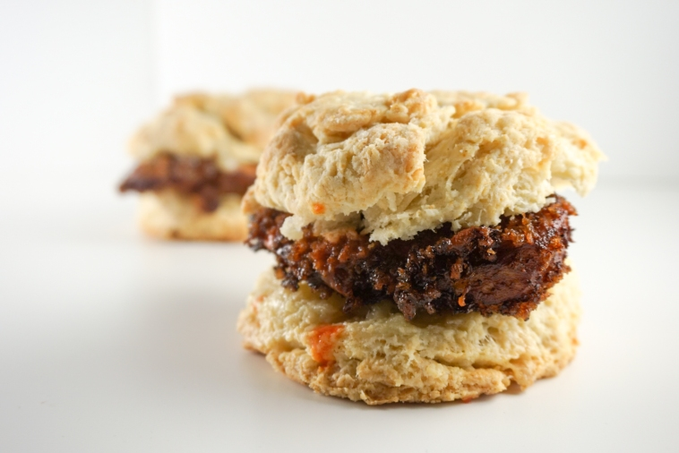 Chicken and Biscuits with Honey Butter