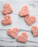 heart rice krispie treat