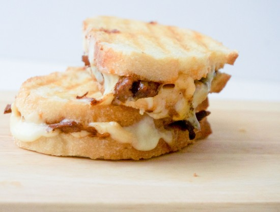 Brisket Grilled Cheese with Smoked Cheddar