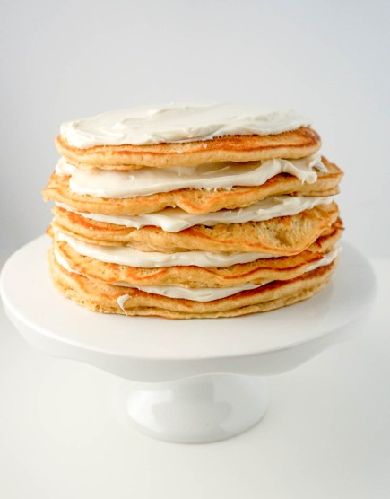 Pancake Cake with Maple Cream Frosting 2