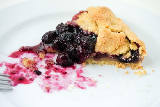 Blueberry Galette with Cornmeal Crust | neurotic baker