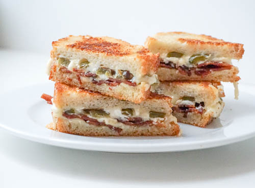 Jalapeno Grilled Cheese with Bacon
