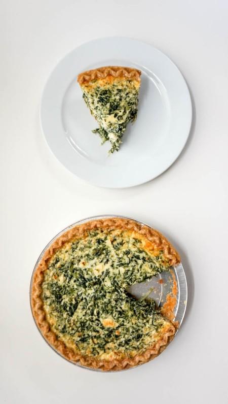 Spinach Feta Quiche 1