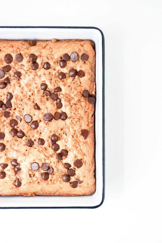 Toffee Chocolate Chip Blondies