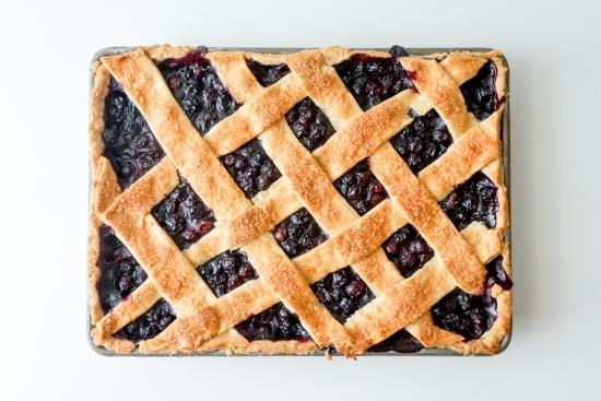 Blueberry Slab Pie with Cornmeal Crust7