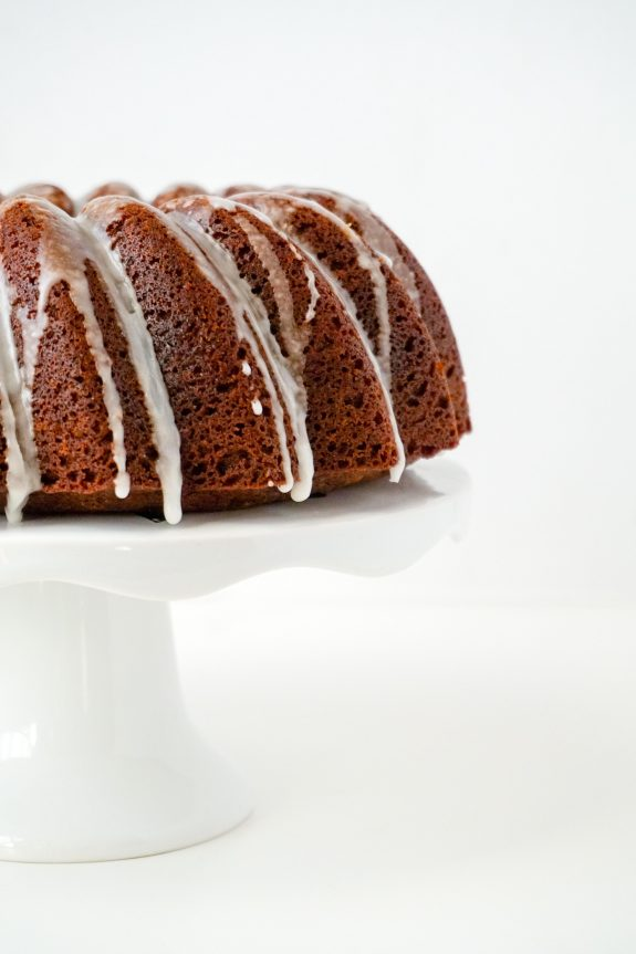 Ginger Cake with Lemon Glaze