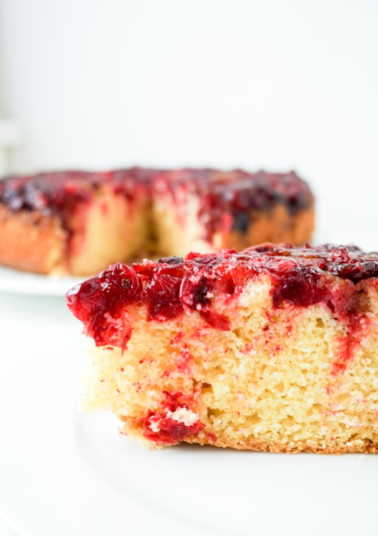 Cranberry Cornmeal Upside Down Cake