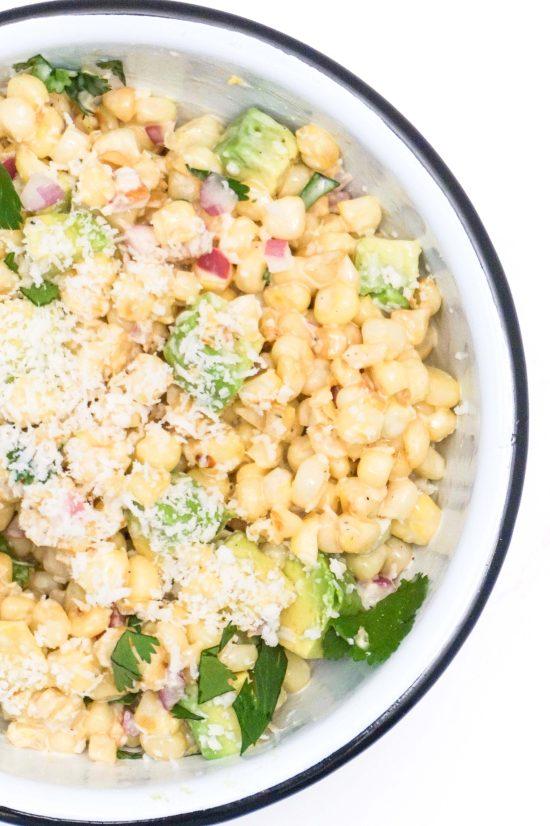 Elote (Roasted Corn Salad)