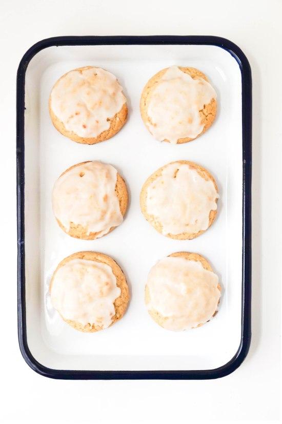 Lemon Tea Cookies with Lemon Glaze