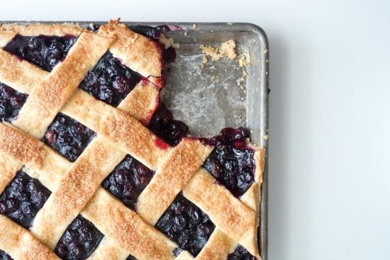 Blueberry Slab Pie with Cornmeal Crust4