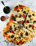 white lamb pizza