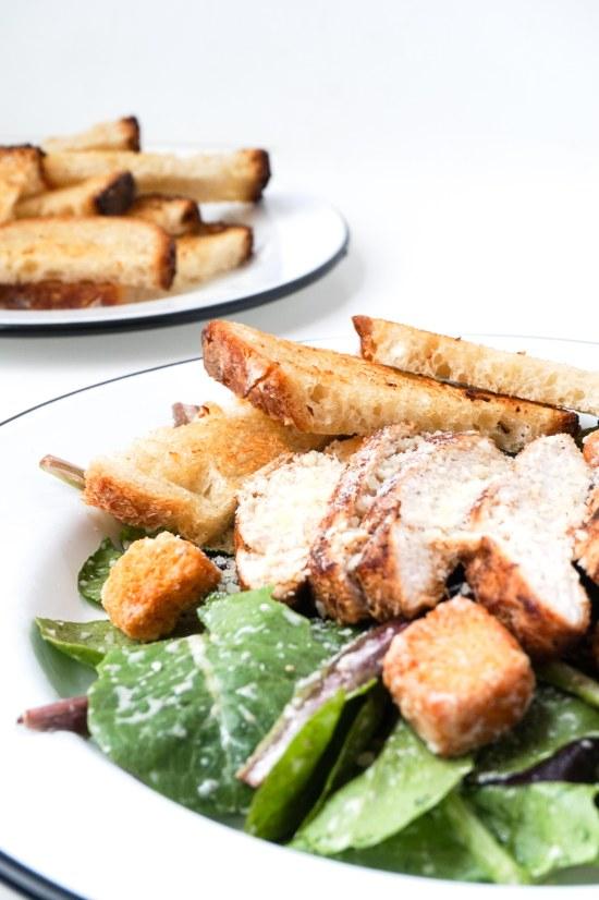 Sauteed Chicken Caesar Salad